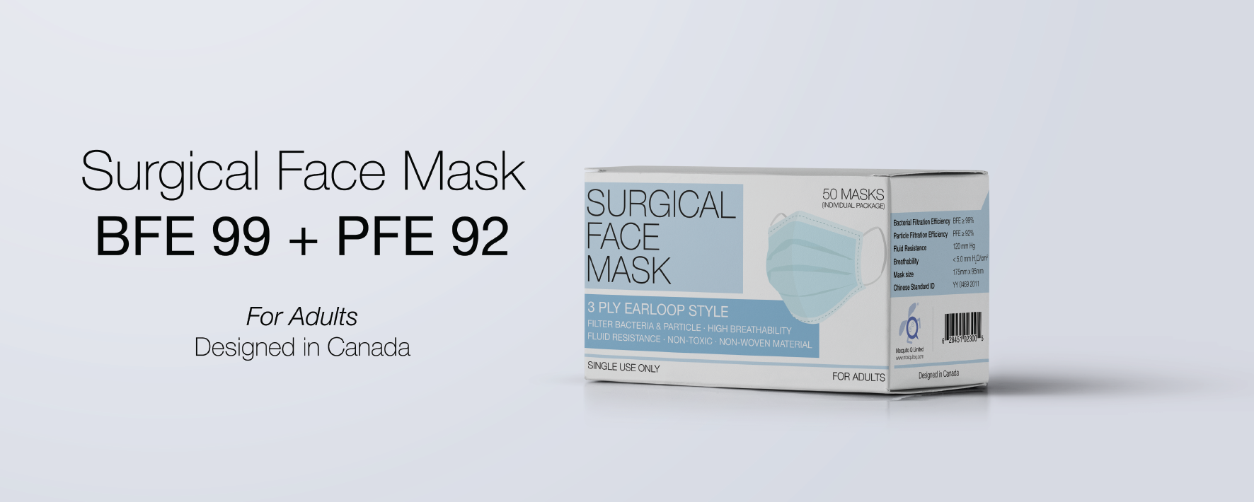 adults BFE & PFE surgical face mask